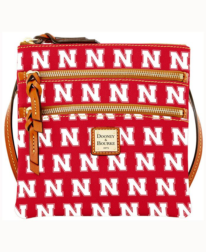 Dooney & Bourke - Nebraska Cornhuskers Triple-Zip Crossbody Bag