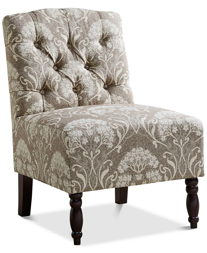 Furniture - Charlotte Tufted Armless Chair, Direct Ship