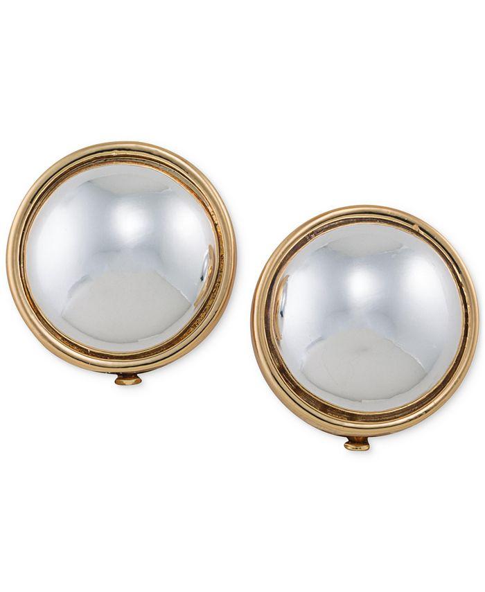 Lauren Ralph Lauren - Gold-Tone Sphere Clip-on Earrings