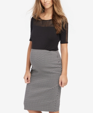 Vintage Style Maternity Clothes Motherhood Maternity Pencil Skirt $39.98 AT vintagedancer.com