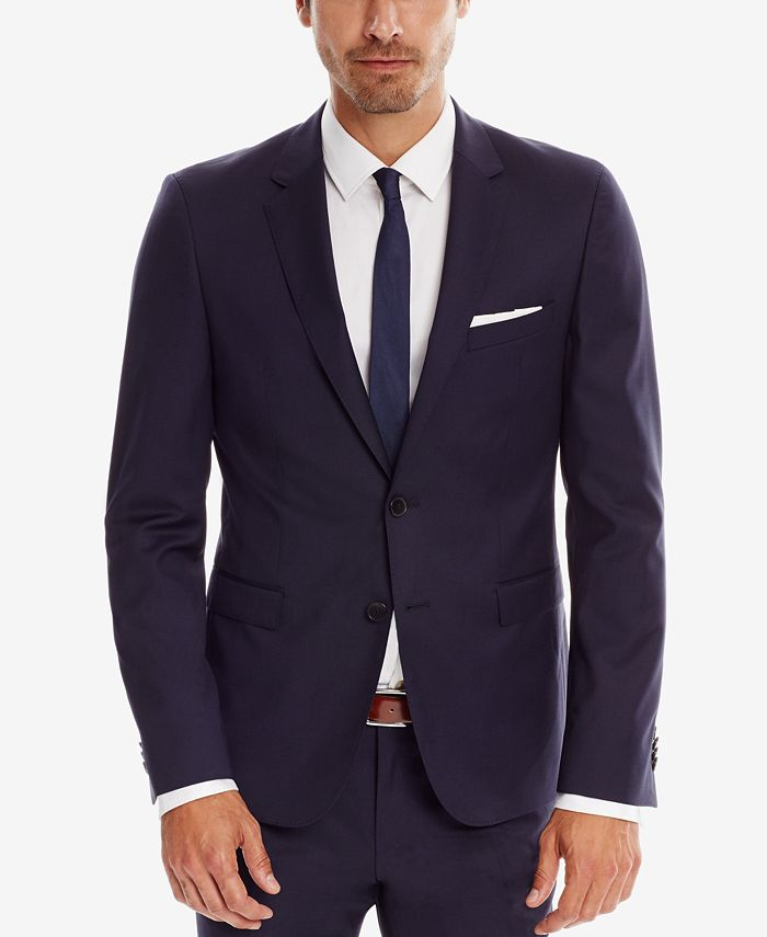 Hugo Boss - Men's Extra-Slim-Fit Super 120 Italian Virgin Wool Sport Coat