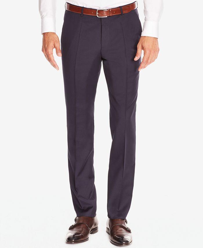 Hugo Boss - Men's Regular/Classic-Fit Virgin Wool Dress Pants