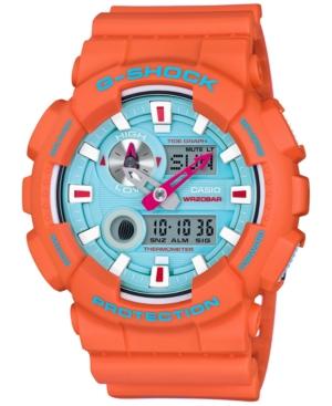 G-Shock Men's Analog-Digital In4mation Orange Resin Strap Watch 51x55mm GAX100X-4A, Limited Edition