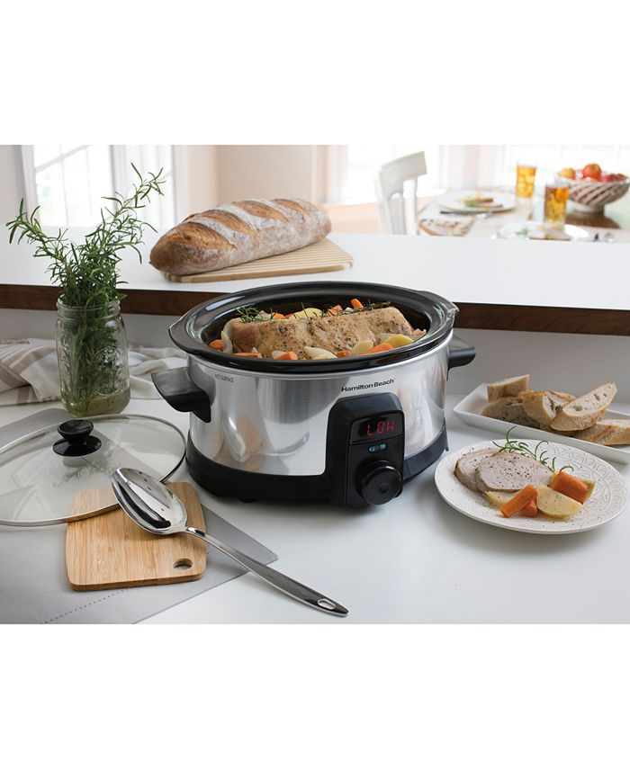 Hamilton Beach - Stay or Go® IntelliTime™ 6-Qt. Slow Cooker