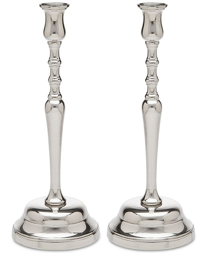 Godinger - 2-Pc. Metal Candlestick Set
