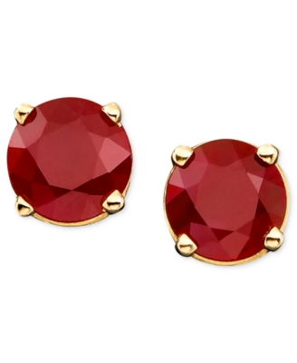 14k Gold Ruby Earrings (1 ct. t.w.)