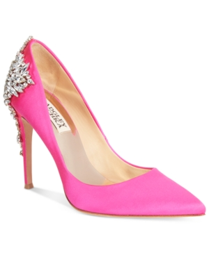 Badgley Mischka Gorgeous Pointed-Toe Evening Pumps Women's Shoes