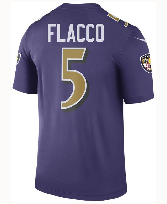 Nike Men's Joe Flacco Baltimore Ravens Legend Color Rush Jersey ...