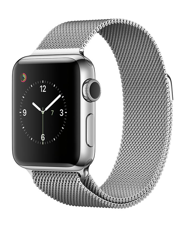 Apple Watch Series 2 - , 38mm Stainless Steel Case with Silver Milanese Loop