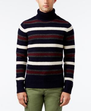 Men's Vintage Style Sweaters – 1920s to 1960s Tommy Hilfiger Mens Striped Turtleneck Sweater $74.99 AT vintagedancer.com