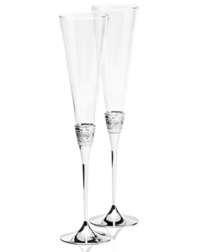 """Vera Wang Wedgwood """"With Love"""" Toasting Flute Pair"""
