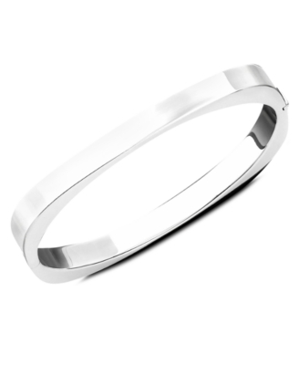 Sterling Silver Oval Bangle Bracelet