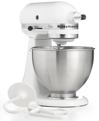 KitchenAid K45SSWH Classic 4.5 Qt. Stand Mixer