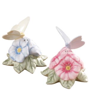 "Lenox ""Butterfly Meadow"" Figural Salt and Pepper Shaker Set"