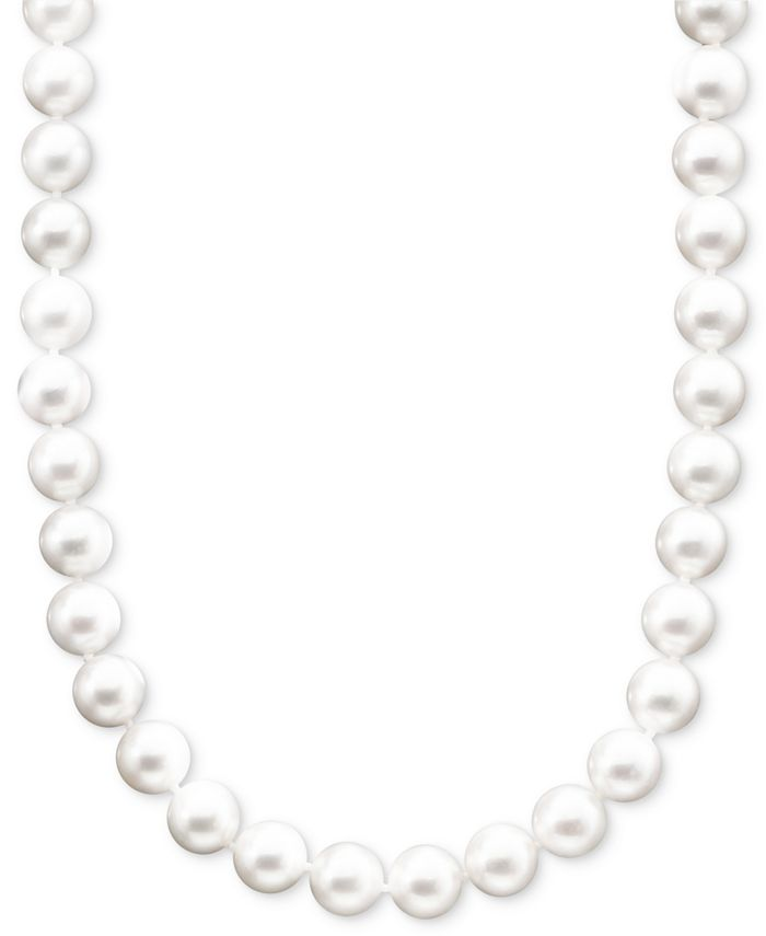 """Belle de Mer - Pearl Necklace, 16"""" 14k Gold A+ Akoya Cultured Pearl Strand (6-6-1/2mm)"""