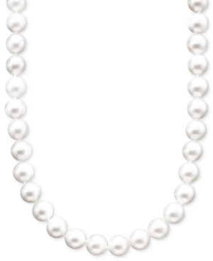 """Belle de Mer Pearl Necklace, 16"""" 14k Gold A+ Cultured Akoya Pearl Strand (6-6-1/2 mm)"""