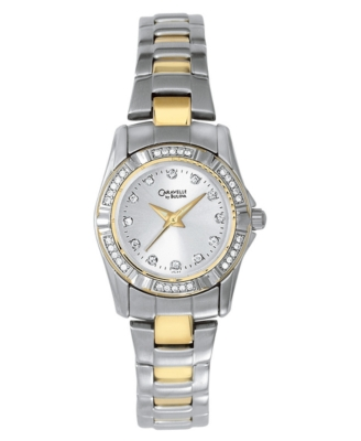 Caravelle by Bulova Watch, Women's Two Tone Bracelet 45L83