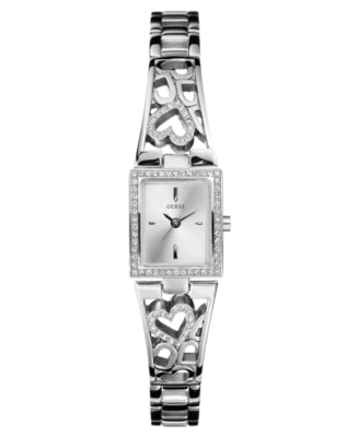 GUESS Watch, Women's Heart Bracelet U85041L1 - Sterling Bracelet Watch