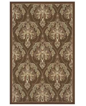 "Momeni Area Rug, Veranda Indoor/Outdoor VR-15 Brown 3' 9"" x 5' 9"""