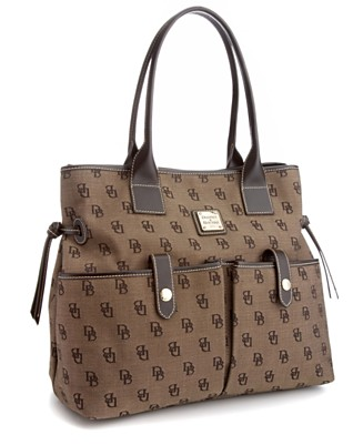 "Dooney & Bourke Signature ""June"" Bag - Totes & Top Handles - Handbags & Accessories - Macy's from macys.com"