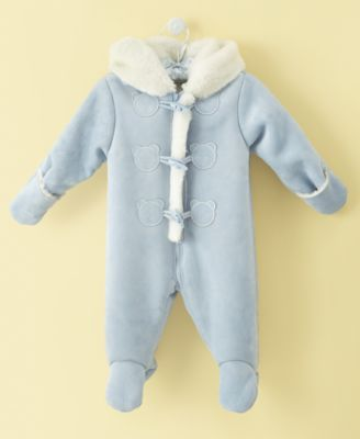 First Impressions Baby Boy Bear Toggle Footie