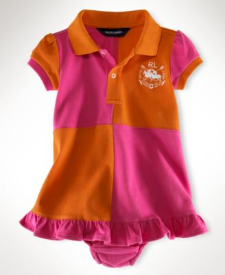 Ralph Lauren Baby Girl Kristen Polo Dress