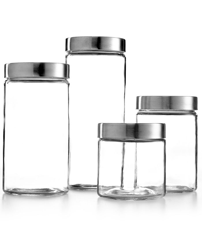 The Cellar - Glass Canisters, Set of 4