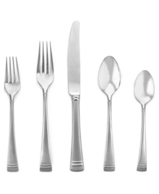 Lenox 18/10 Flatware, Federal Platinum Frost 5 Piece Place Setting