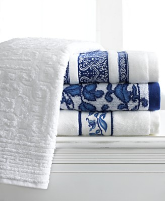 "Lauren Ralph Lauren ""Palm Harbor"" Towel Collection - Bath Towels Bath Towels & Accessories Bed and Bath - for the home  - Macy's from macys.com"