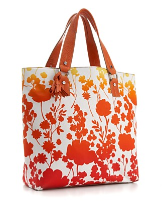 "TOMMY HILFIGER ""Ombre Floral Print"" Signature Tote - Totes & Top Handles - Handbags & Accessories  - Macy's from macys.com"