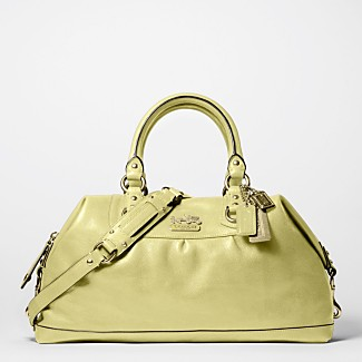 COACH LEATHER LARGE SABRINA - Madison Handbags - COACH  - Macy's :  handles key fob pockets hanbag