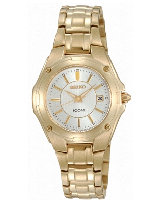 Seiko Watch, Women's Goldtone Stainless Steel Bracelet SXDB48