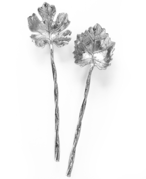 Martha Stewart Collection Serveware, Set of 2 Grape Leaf Serving Utensils