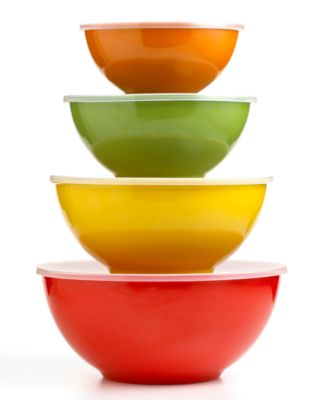 Martha Stewart Collection Harvest Multi Bowls with Lids, Set of 4