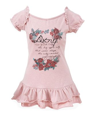 DKNY Girls Petals Tunic Dress