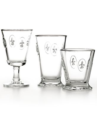 French Home la Rochere Glassware Fleur De Lys Collection