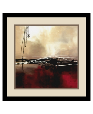 Amanti Art Symphony in Red and Khaki I Framed Art Print by Laurie Maitland