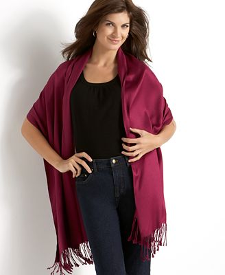 Jones New York Wrap, Satin Pashmina