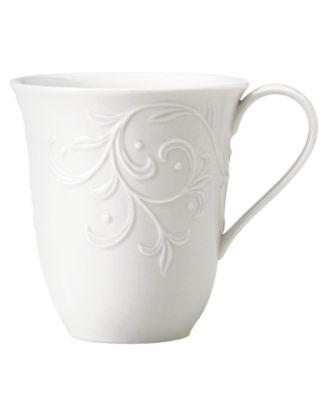 Lenox Dinnerware, Opal Innocence Carved Mug