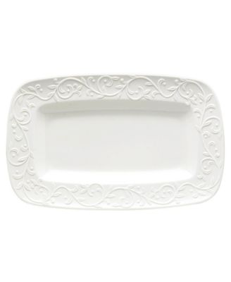 Lenox Dinnerware, Opal Innocence Carved Hors D'Oeuvres Tray