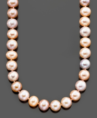 Pearl Necklace, 14k Gold Cultured Freshwater Pearl (10-11 MM)