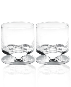 Nambe Barware, Set of 4 Groove Double Old Fashioned Glasses
