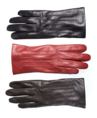 Charter Club Gloves, Novelty Draws Leather