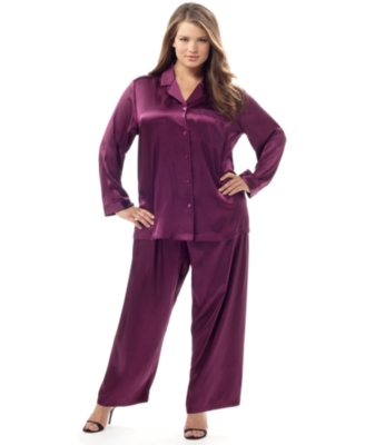 Morgan Taylor Pajamas, Plus Size Satin