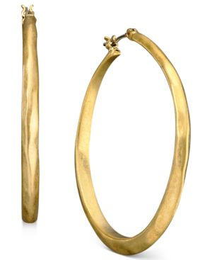 Kenneth Cole New York Earrings, Goldtone Medium Hoop