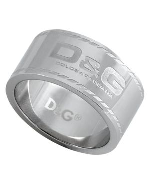D&G Men's Ring, Stainless Steel Logo