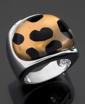 GUESS Ring, Cheetah Dome