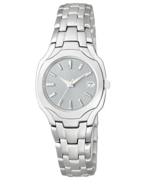 Citizen Women's Eco-Drive Stainless Steel Bracelet Watch 25mm EW1250-54A