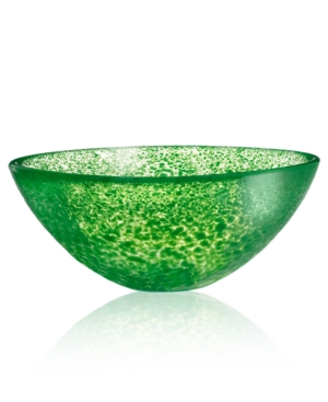 Kosta Boda Crystal Bowl, Tellus Green Small