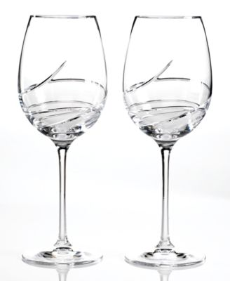 Waterford Stemware, Ballet Ribbon Essence Goblets, Set of 2